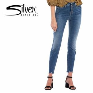 Silver Jeans 'High Note' High-Rise Skinny Jeans